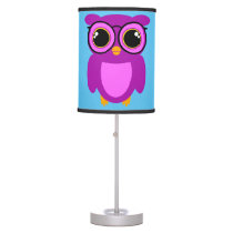 Cute Nerdy Owl Table Lamp