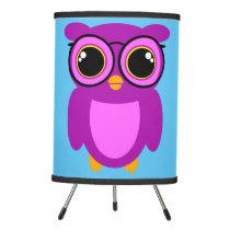 Cute Nerdy Owl Tripod Lamp