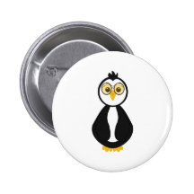Cute Nerdy Penguin Buttons
