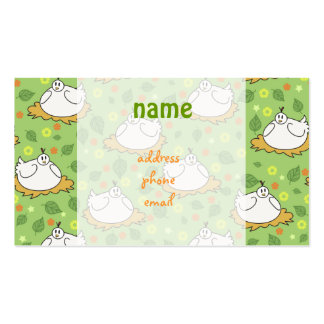 Cute Nested Chickens Pattern Business Card Template