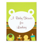 Cute Neutral Baby Shower Personalized Invitation