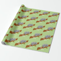 Cute neutral koala bear baby shower wrapping paper