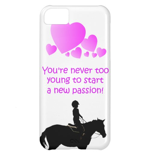 Cute Never Too Young Equestrian iPhone 5 Case-Mate