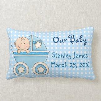 Cute New Baby Boy Pillow
