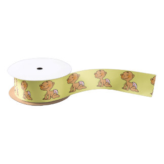 cute new baby shower satin ribbon