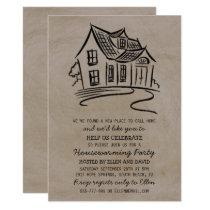 Cute New Home Housewarming Invitations