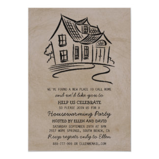 Cute New Home Housewarming Invitations