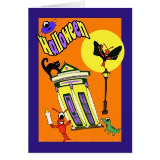 Cute New Orleans Swamp Creatures Halloween Card