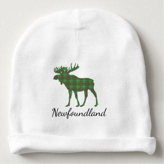 Cute Newfoundland moose tartan baby beanie