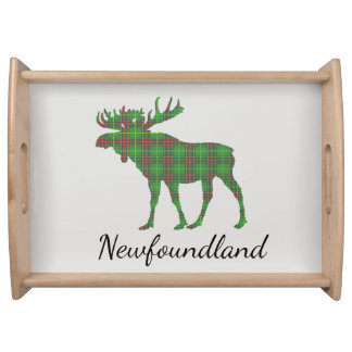 Cute Newfoundland moose tartan tray