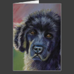 Cute Newfoundland Puppy Dog Art - Cards