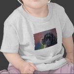 Cute Newfoundland Puppy Dog Art - T-shirt