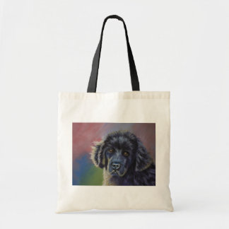 Cute Newfoundland Puppy Dog Art - Tote Bag