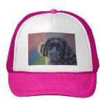 Cute Newfoundland Puppy Dog Art - Trucker Hats