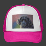 Cute Newfoundland Puppy Dog Art - Trucker Hats