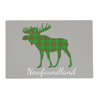 Cute Newfoundland Tartan Moose place mat