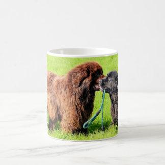 Cute Newfoundland with puppy Coffee Mug