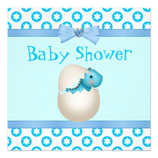 cute newly hatched baby dinosaur baby shower announcement zazzle