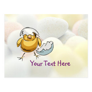 Cute Newly Hatched Chick Design Card