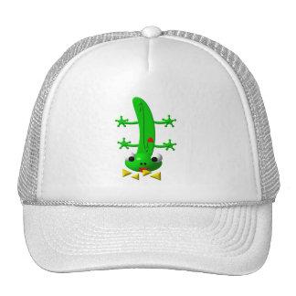 Cute newt nibbling nachos trucker hat