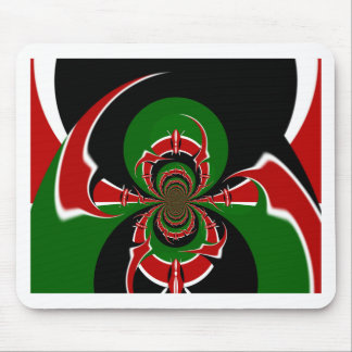 Cute Nice and Lovely Latest Kenyan Flag Design DIY Mouse Pad