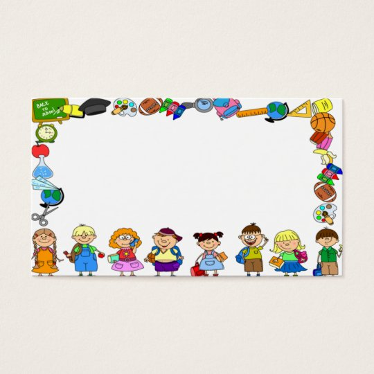 cute nice lovely businesscard for children and fun business card