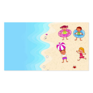 cute nice lovely template for swimming children business cards