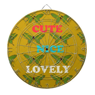 Cute Nie Lovely Vintage Butterfly.png Dartboard