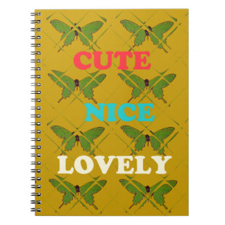 Cute Nie Lovely Vintage Butterfly.png Notebook