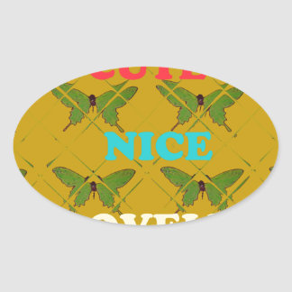 Cute Nie Lovely Vintage Butterfly.png Oval Sticker