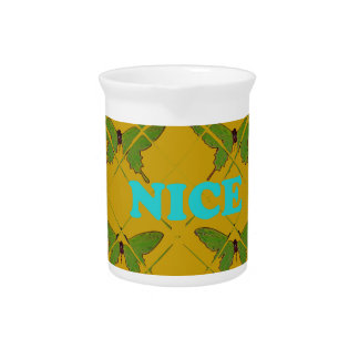 Cute Nie Lovely Vintage Butterfly.png Pitchers