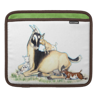 Cute Nigerian Dwarf Goat and Kids Sleeve For iPads