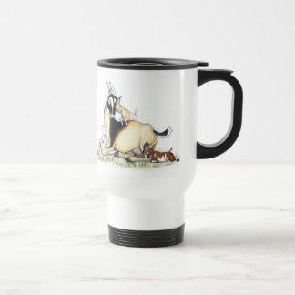 Cute Nigerian Dwarf Goat and Kids Travel Mug