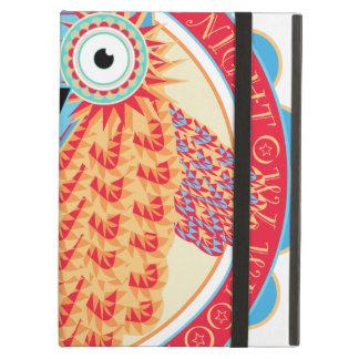 Cute Night Owl Fun Brightly Colored Drawing iPad Air Case