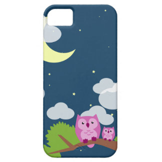 Cute Night Owl mother and baby iPhone 5 Case