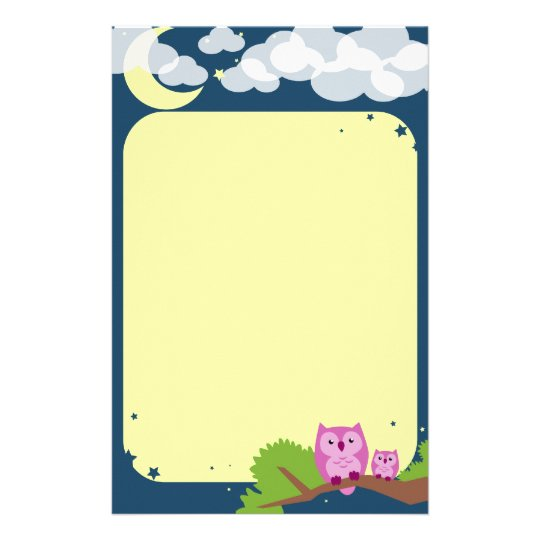 Cute Night Owls Stationery