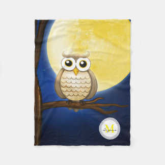 Cute Night Wise Owl | Decorative Fleece Blanket