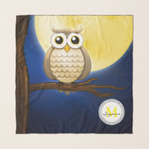 Cute Night Wise Owl | Decorative Scarf