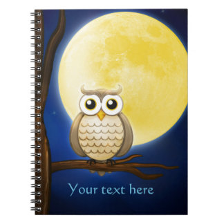 Cute Night Wise Owl Notebook