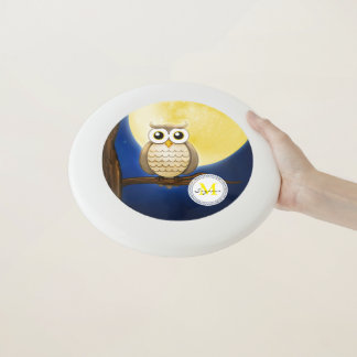Cute Night Wise Owl | Personalizable gifts Wham-O Frisbee