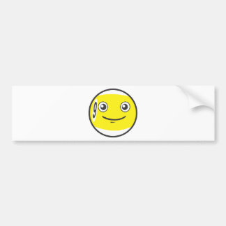 Cute Nine 9 Ball Billiard Cartoon Bumper Sticker