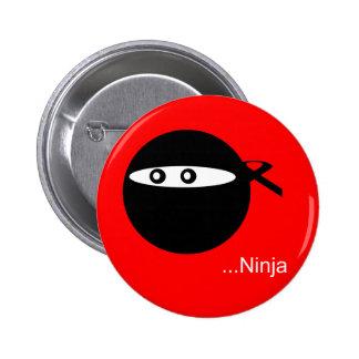 Cute Ninja 2 Inch Round Button
