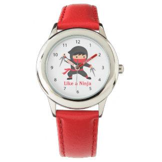 Cute Ninja Kid with Sai Weapons for Kids Wrist Watches