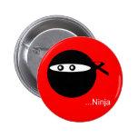 Cute Ninja Pinback Button