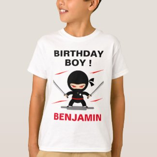 Cute Ninja Warrior Birthday Party T-Shirt