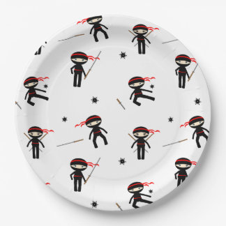 Cute Ninjas Paper Plate