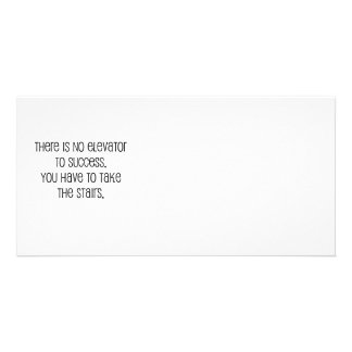"""Cute, """"No elevator to success"""" quote Photo Card"""
