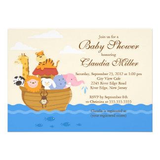 "Cute Noah""s Ark Baby Girl or Baby Boy Shower Invite"