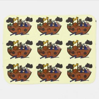 Cute Noah's Ark Cartoon Baby Blanket