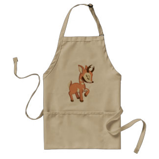 Cute North American Antelope Adult Apron